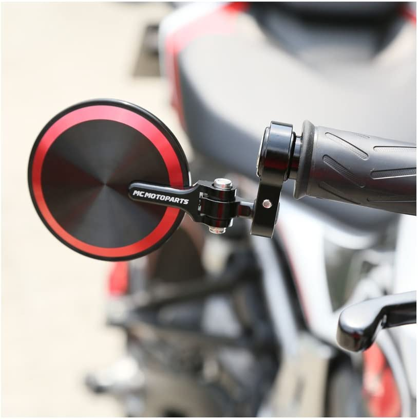 MC Motoparts Red Reborn CNC Bar End Mirrors For Honda CB1000 CBR1000R CBR300R CBR650F CB500F ABS VT1300