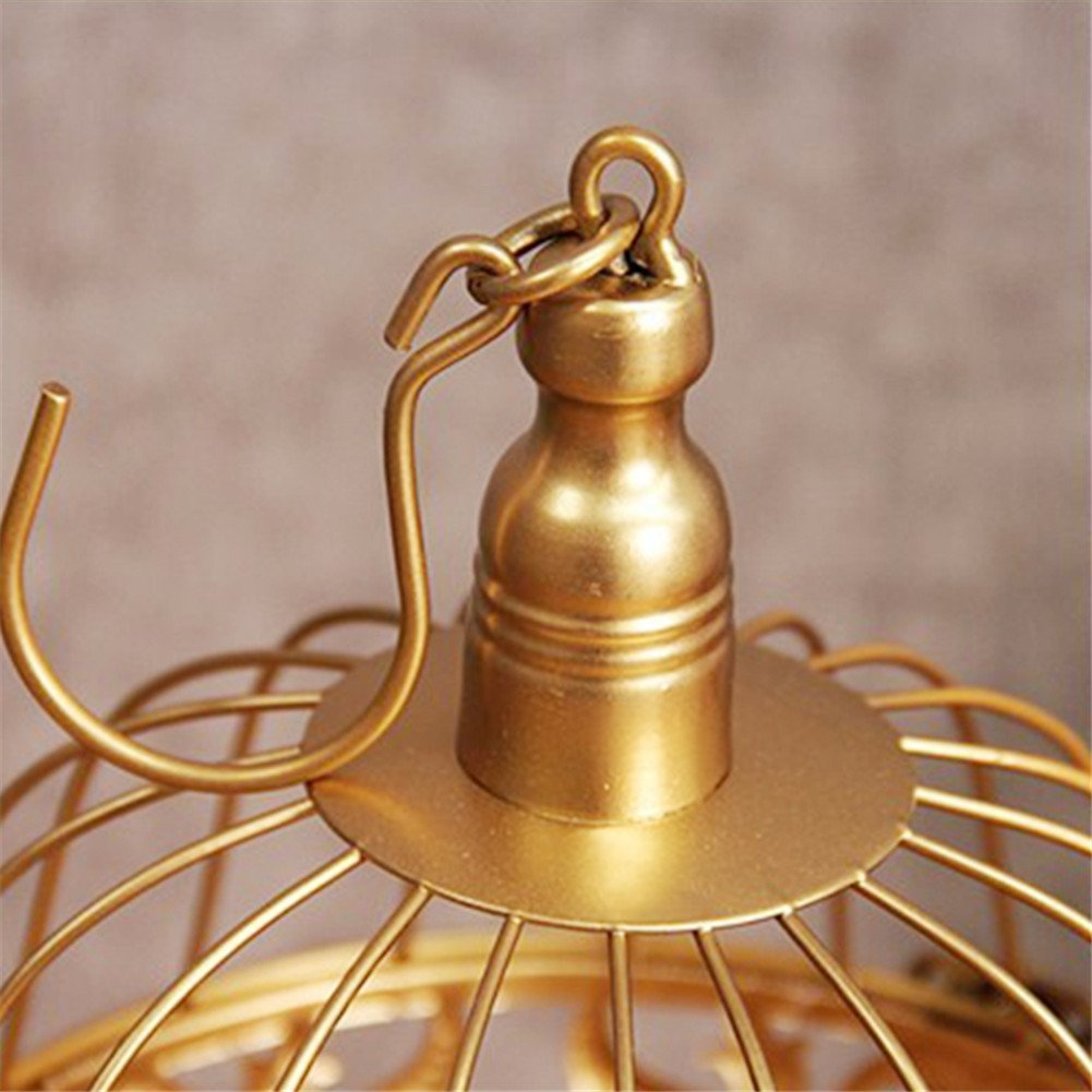 12 Pcs/set Golden Cake Stands and Pastry Trays,Metal Birdcage Cupcake Dessert Pedestal/Display/Plate/Stands and Trays with Crystals and Beads,Party Birthday Party Wedding Decorations for Tables by Gooday (Image #6)