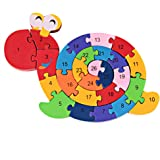 DD Wooden Blocks Jigsaw Puzzles Winding Snail Toys Letter & Numbers Puzzles Preschool Educational Toys For Toddlers Kids Children Boys Girls,Christmas Gift Toys for age 3 4 5 Year Old and Up