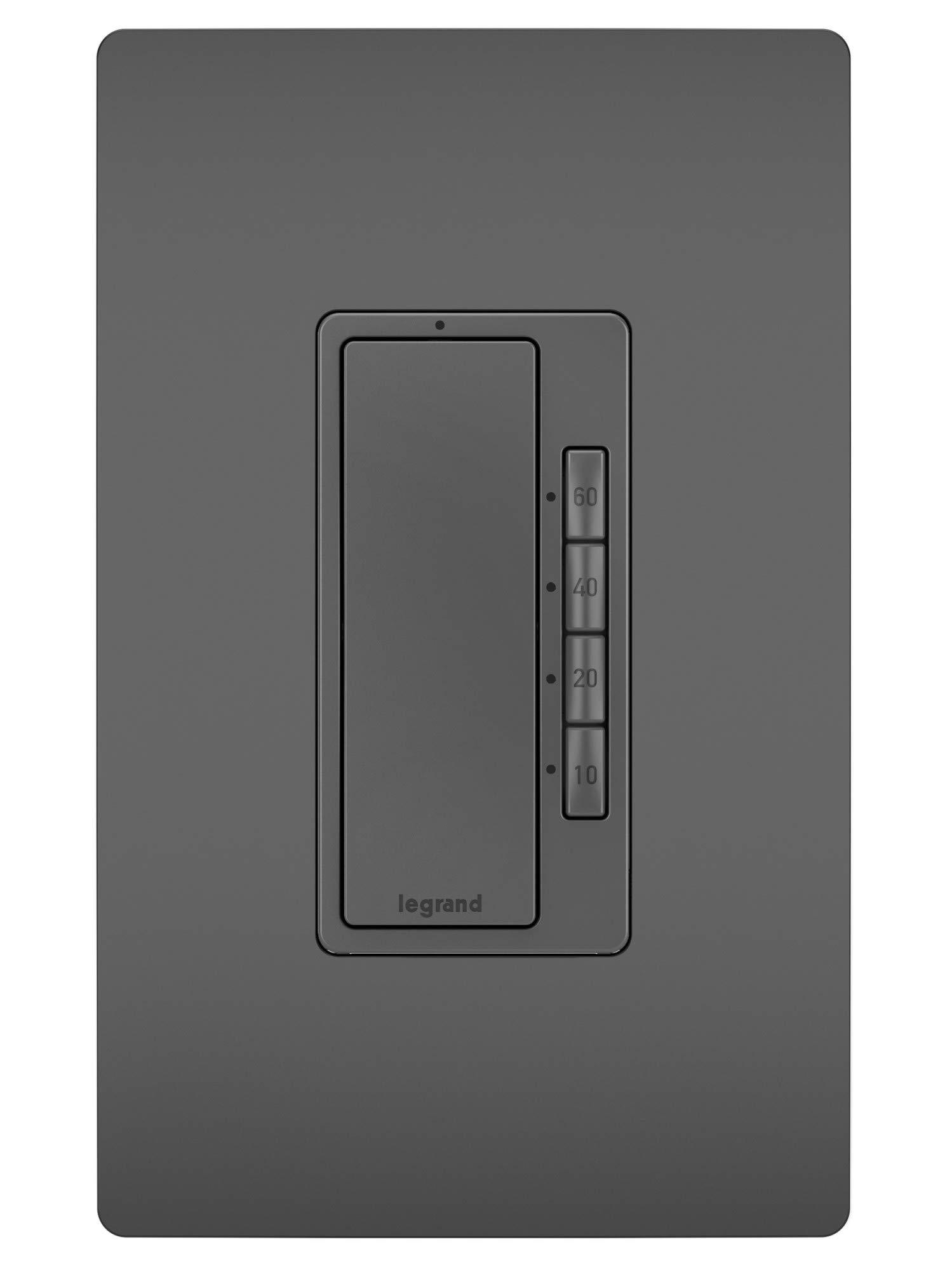 Legrand RT2BK Radiant 5 Button Digital Timer Multi Way Switch