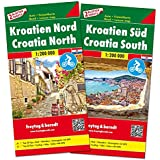 Kroatien Nord und Süd, Autokarten Set 1:200.000 (freytag & berndt Auto + Freizeitkarten)