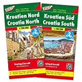 Croatia North and South, Road Map Pack with Leisure Guide (English, Spanish, French, Italian and German Edition)