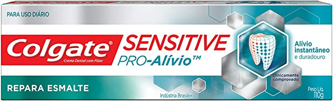 Colgate Creme Dental Sensitive Pro Alivio Repara Esmalte, Branco, 110 g