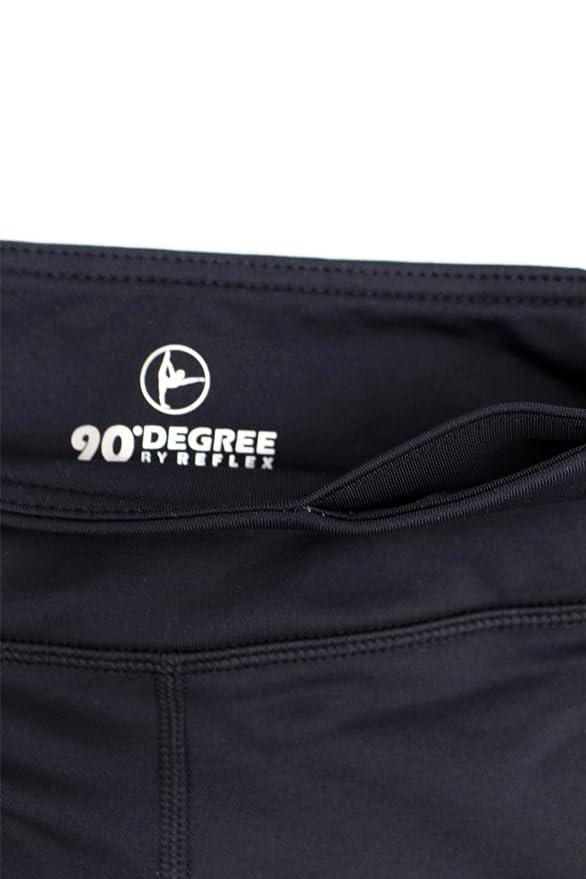 6683701f2bd1b Amazon.com: 90 Degree By Reflex - Kids Girls Juniors - Fleece Lined Yoga  Leggings - Black L (12): Clothing