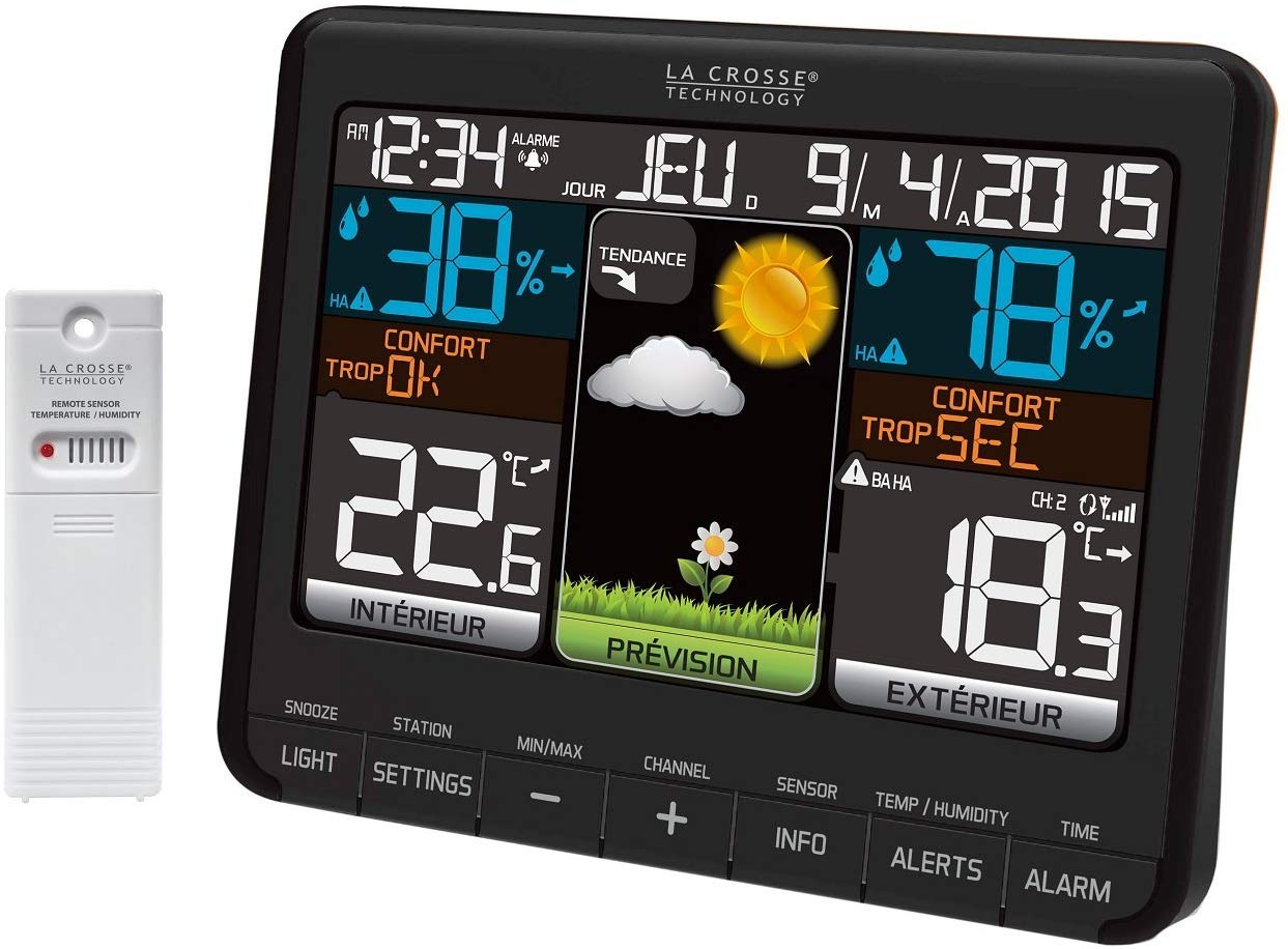La Crosse Technology - WS6825 BLA - Weather Station - Black