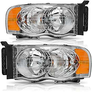 Amazon Headlights Depot Replacement For Dodge Ram 1500 2500. Headlight Assembly For 20022005 Dodge Ram Pickup Headls Replacement Chrome Housing Amber Reflector Clear Lens One Year Warranty Passenger And Driver. Dodge. Ram Ram 2005 Dodge Tail Light Harness At Scoala.co