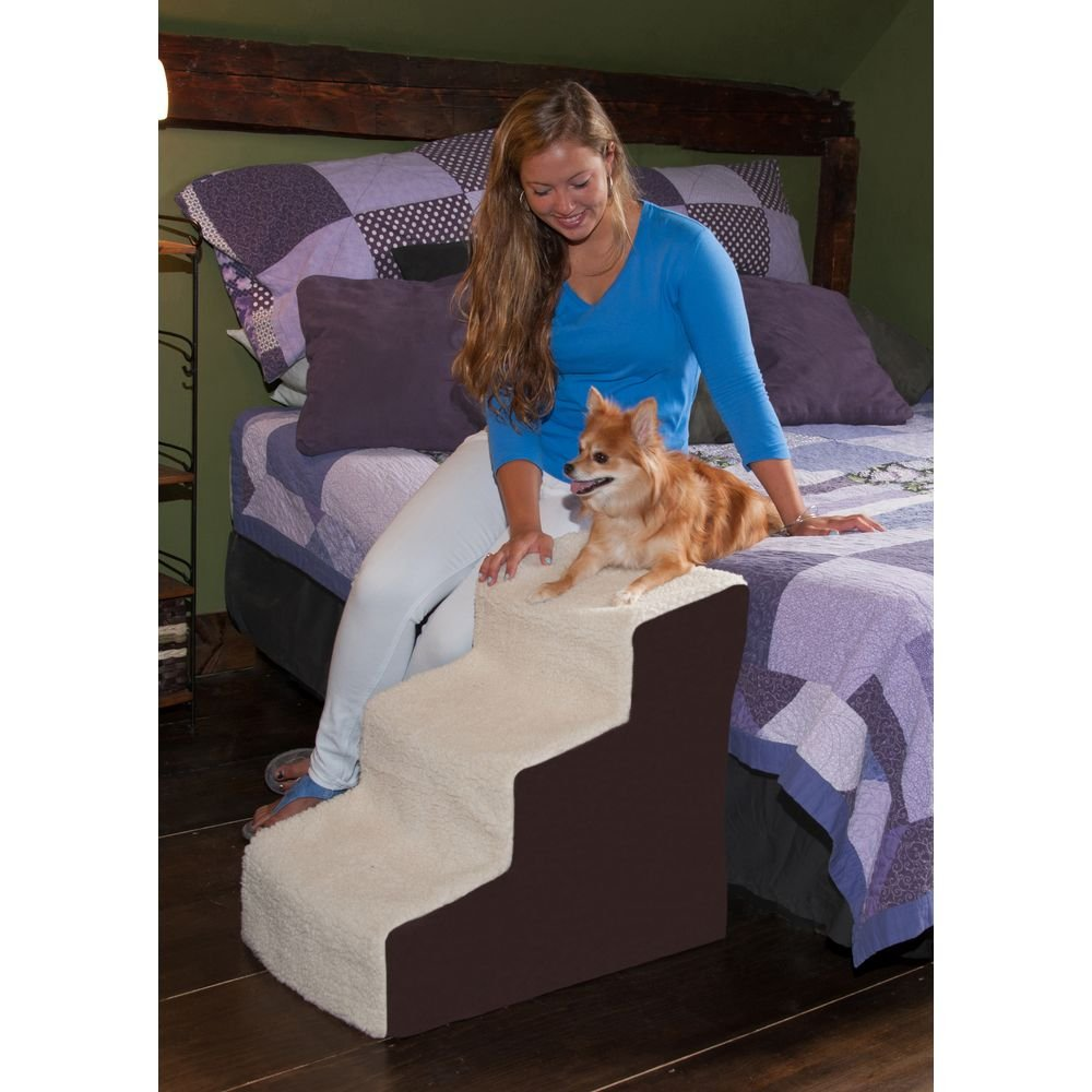 Amazon.com : Pet Gear Easy Step III Deluxe Soft 3 Step Pet Stairs For Pets  Up To 150 Pound, Oatmeal/Chocolate : Pet Supplies