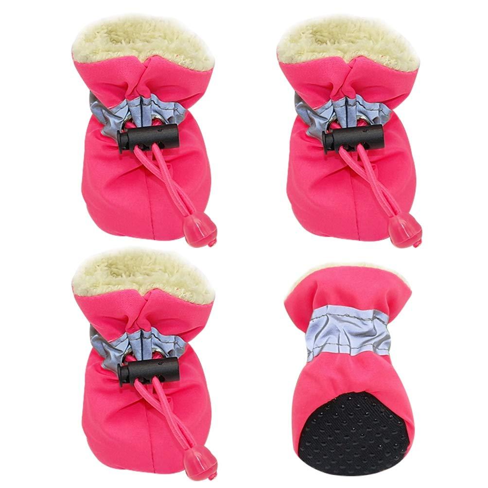 Jim Hugh Pet Dog Shoes Waterproof Winter Anti-Slip Rain Footwear Thick Warm for Small Cats Dog Socks Booties