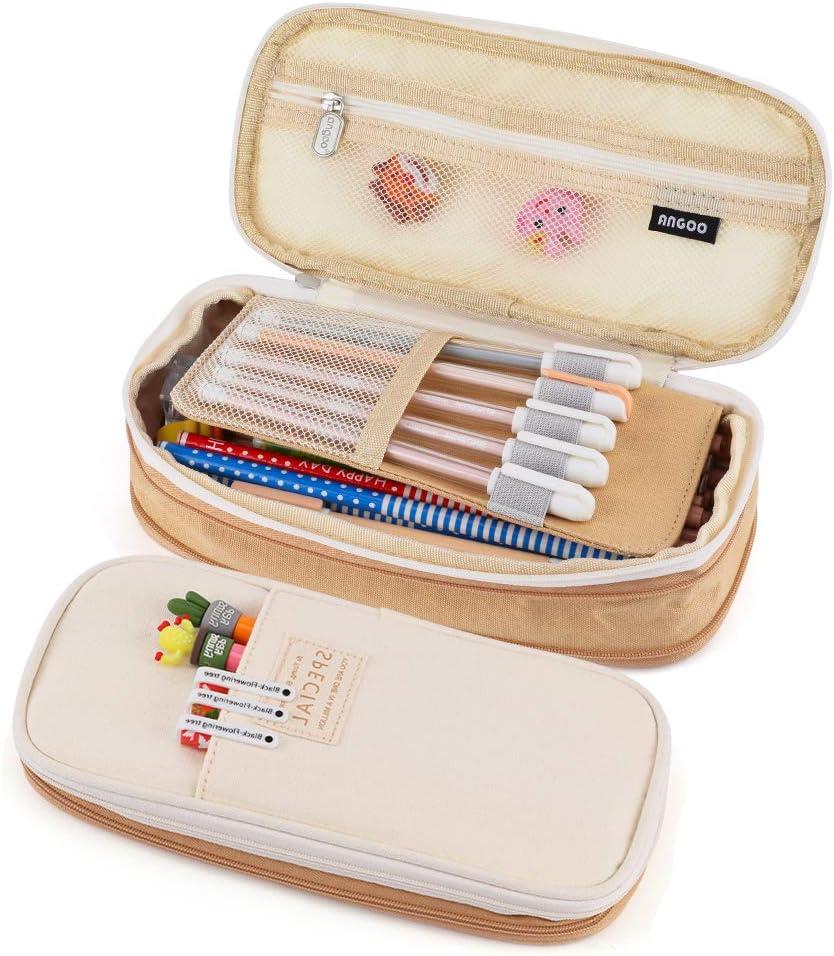 Classic Yoga Squirrel Pencil Case Medium Capacity Pen Bag Students Stationery Pouch Zipper Bag Office Supplies Wallets Makeup Multi-Function Bag