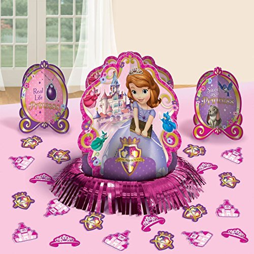 Disney Princess Sofia the First Party Table Decorations Kit ( Centerpiece Kit ) 23 PCS - Kids Birthday and Party Supplies Decoration