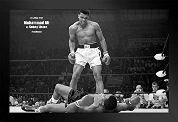 Muhammad Ali vs Liston First Minute Round Knockout Fight Boxing Photo  Sports (Poster, 36x24 inches)