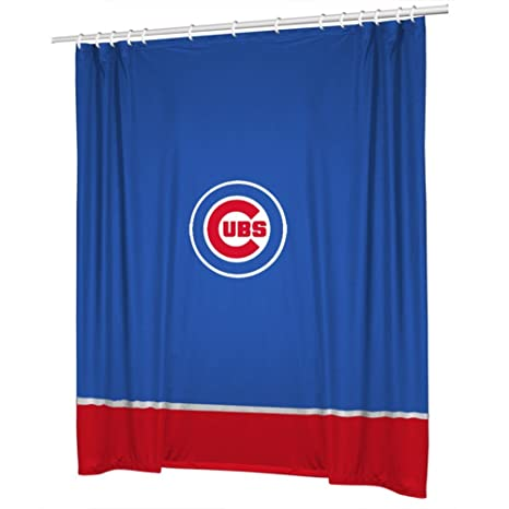 MLB Sidelines Shower Curtain Team Chicago Cubs