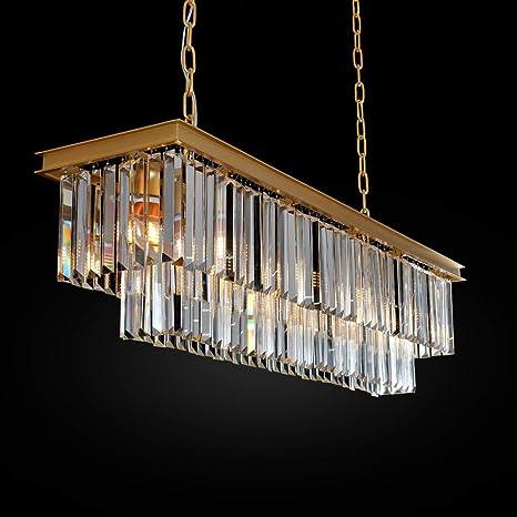 Modern Crystal Golden Chandelier Pendant Light Ceiling Lamp Living room Lighting