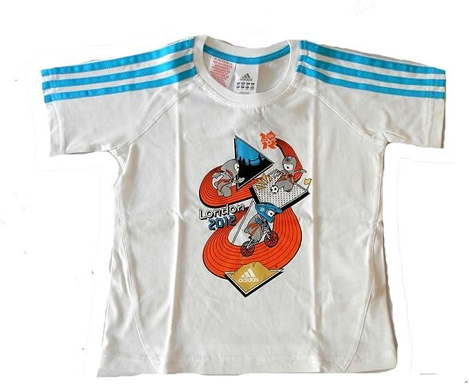 adidas M. SP. Camiseta de los niños para niños algodón blanco tamaño 3: Amazon.es: Ropa y accesorios