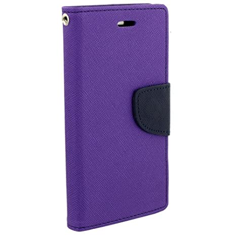 buy online 77b4a 5080d Avzax Luxury Diary Wallet Style Flip Cover Case with Magnetic Lock for Asus  X00Gd (Purple)