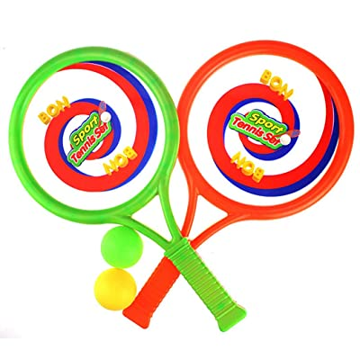 Coxeer Kids Tennis Racket Set Portable Tennis Racquet Set with Ball for Kids Outdoor Sports: Kitchen & Dining