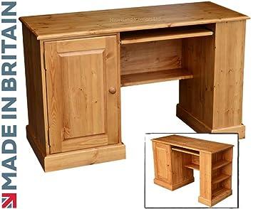 Hechos a mano de madera de pino maciza escritorio, ordenador ...