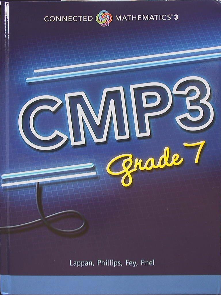 Connected Mathematics 3  CMP3, Grade 7  9780133278132, 0133278131