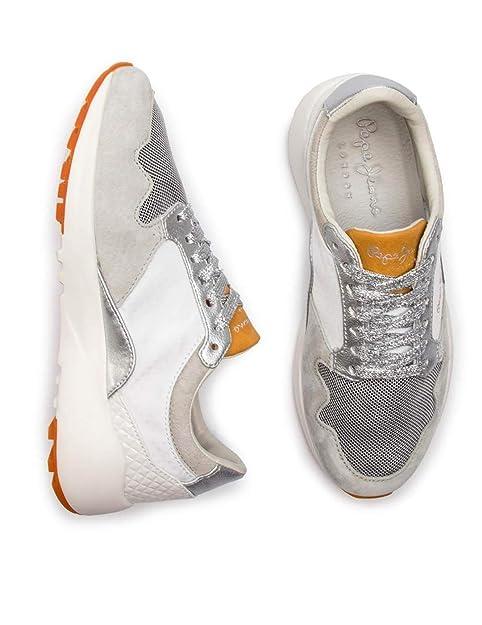 6c238dd9250aef Pepe Jeans Schuh Frauen Foster Maya Grau  Amazon.de  Schuhe   Handtaschen