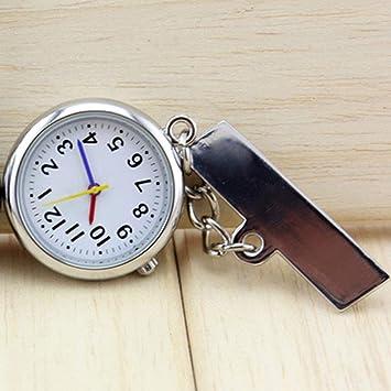 XLL-lele Reloj de Bolsillo Broche Digital Tipo Broche Transparente para Enfermeras Que Usan y sincronizan: Amazon.es: Hogar