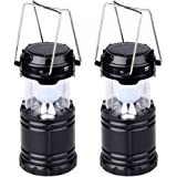 LED Solar Lantern Outdoor - Hatori Batteries Powered Hanging Camping Lights - Emergency Charging Bank for Android