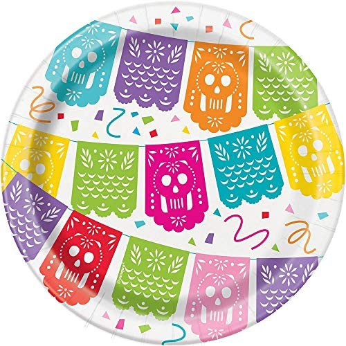 (Small Paper Plates) - Unique Party 58684 - 18cm Mexican Fiesta Paper Plates, Pack of 8