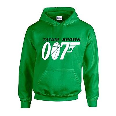 "The Silo Green Boston Tatum Brown ""007"" Hooded Sweatshirt"