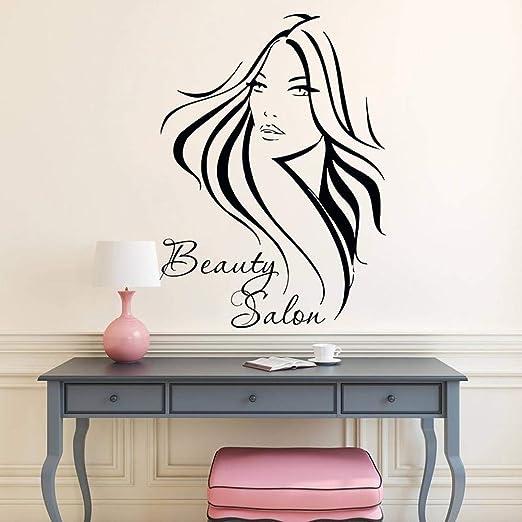 zzlfn3lv Moda peluquería Pegatinas de Vinilo salón de Belleza niña ...