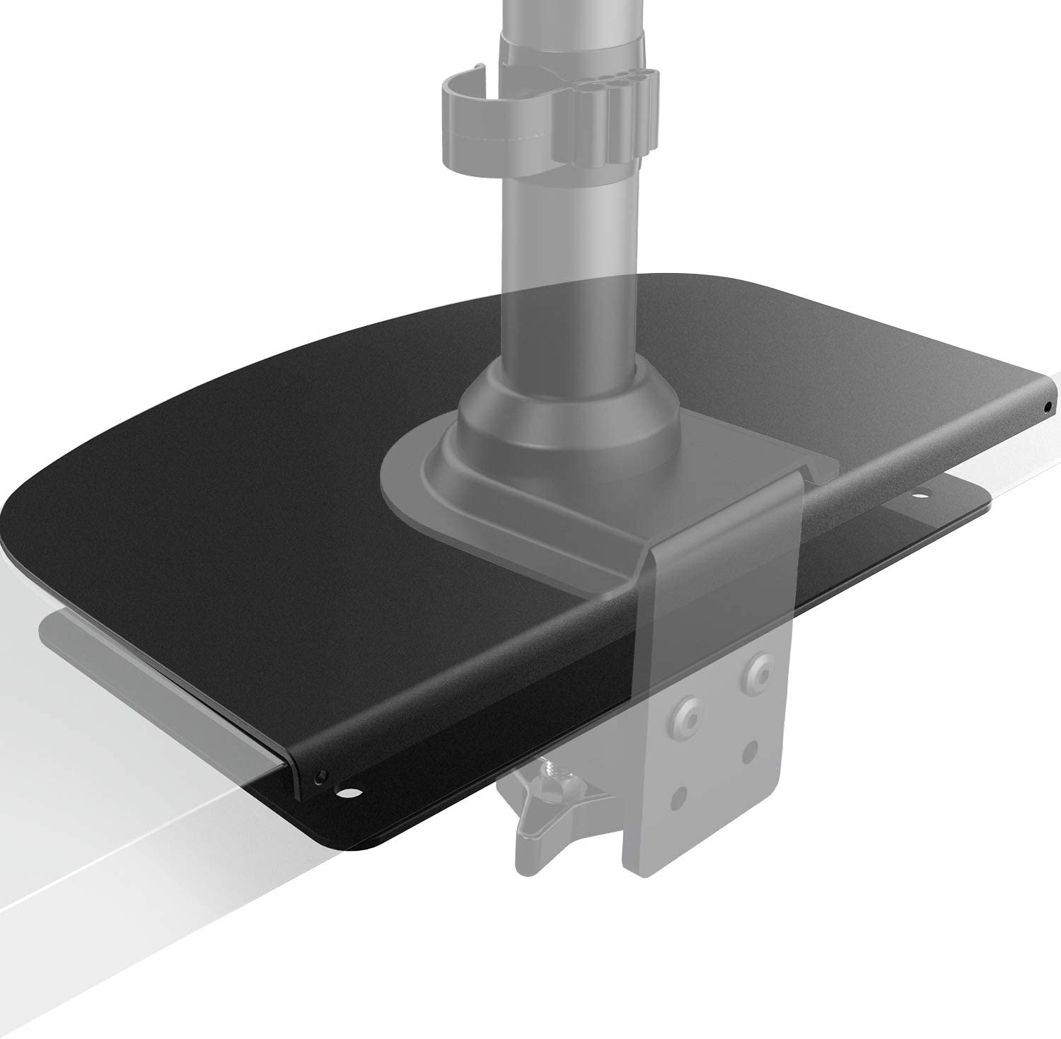 HUANUO Steel Monitor Mount Reinforcement Plate for Thin, Glass and Other Fragile Tabletop, Steel Bracket Plate Fits Most Monitor Stand C Clamp Installation