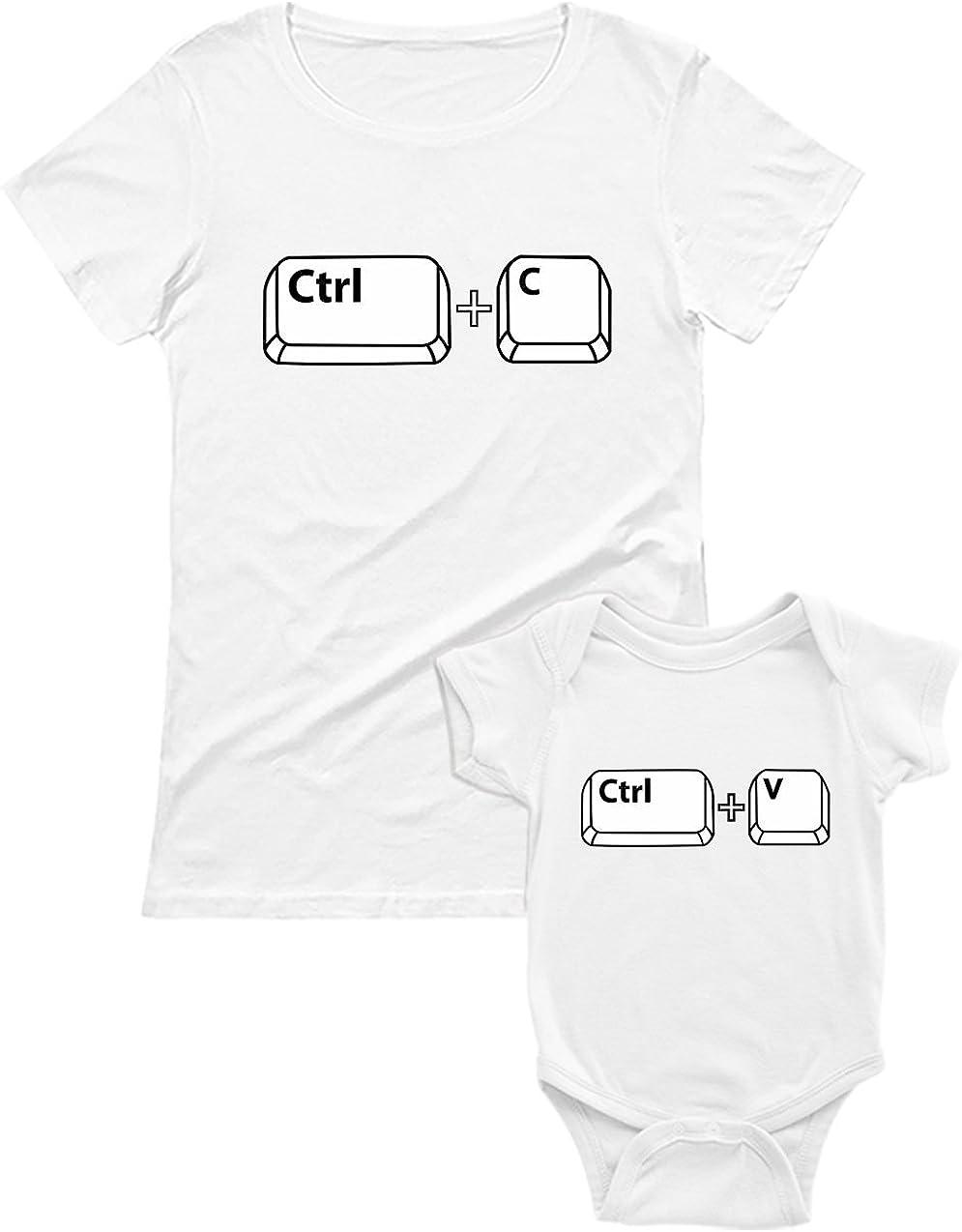 Green Turtle T-Shirts Copy & Paste - Set para Mamá y Bebé - Regalo Original para Madres