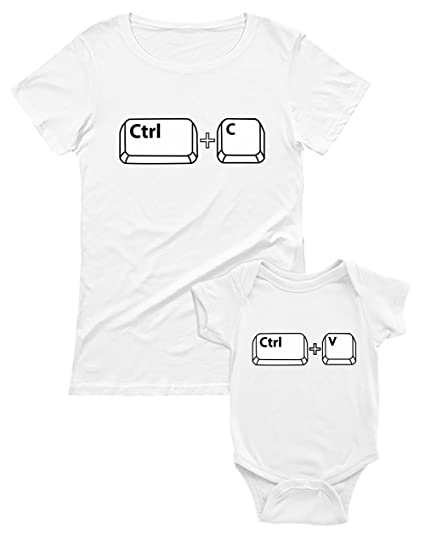 Green Turtle T-Shirts Copy Paste Set pour Maman et bébé