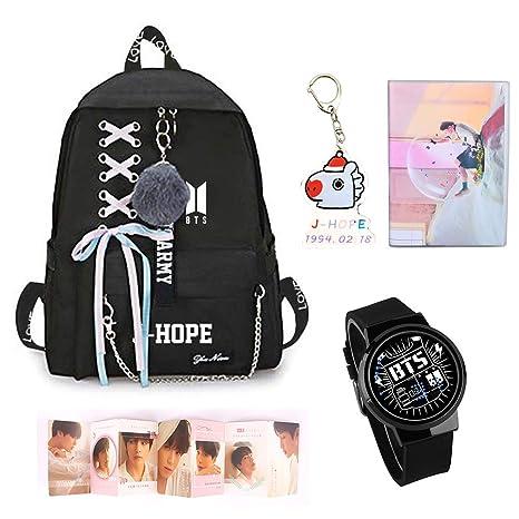 Amazon.com: Nuofeng - Mochila Kpop BTS + llavero BTS + ...