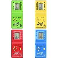 Tivolii Electronic Tetris Brick Game Kids Classic Máquina de juego de mano con juego de música para niños niñas LCD Juguetes educativos