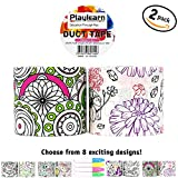 cool duct tape - Design Color Me Duct Tape 48mm x 16 Feet - Color in Shapes and Pictures Kids Fun Extra Strong - By Playlearn (Flower Swirl)