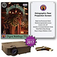Spectral Illusions DIGITAL BACKDROPS Compilation Video Projector Kit -1900 Lumen Projector - Includes Reaper Brothers Rear Projection Screen