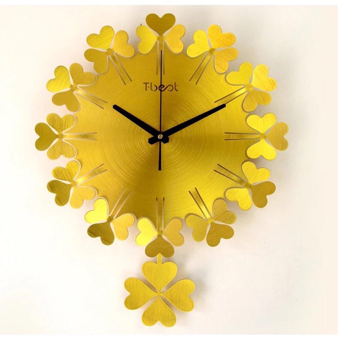 掛時計 壁掛 金属 クローバー け リビング 時計 掛け時計 リビング シンプル おしゃれ SFANY B07D72TK19 タイプ3 タイプ3