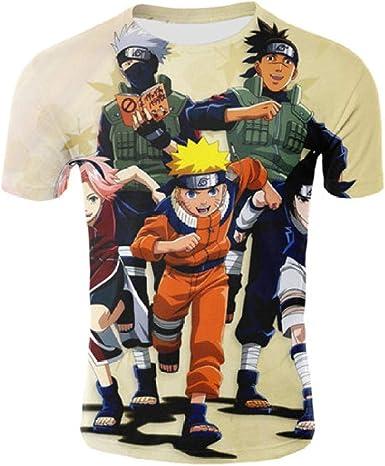 TSHIMEN Camisetas Hombre Escalada Naruto Hombres Luna ...