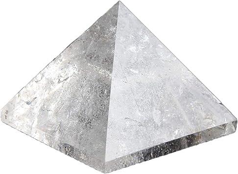 Natural Obsidian Crystal Quartz Pyramid Reiki Energy Healing Mineral Specimen