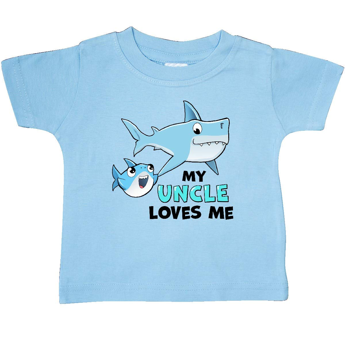 inktastic My Uncle Loves Me with Cute Sharks Baby T-Shirt