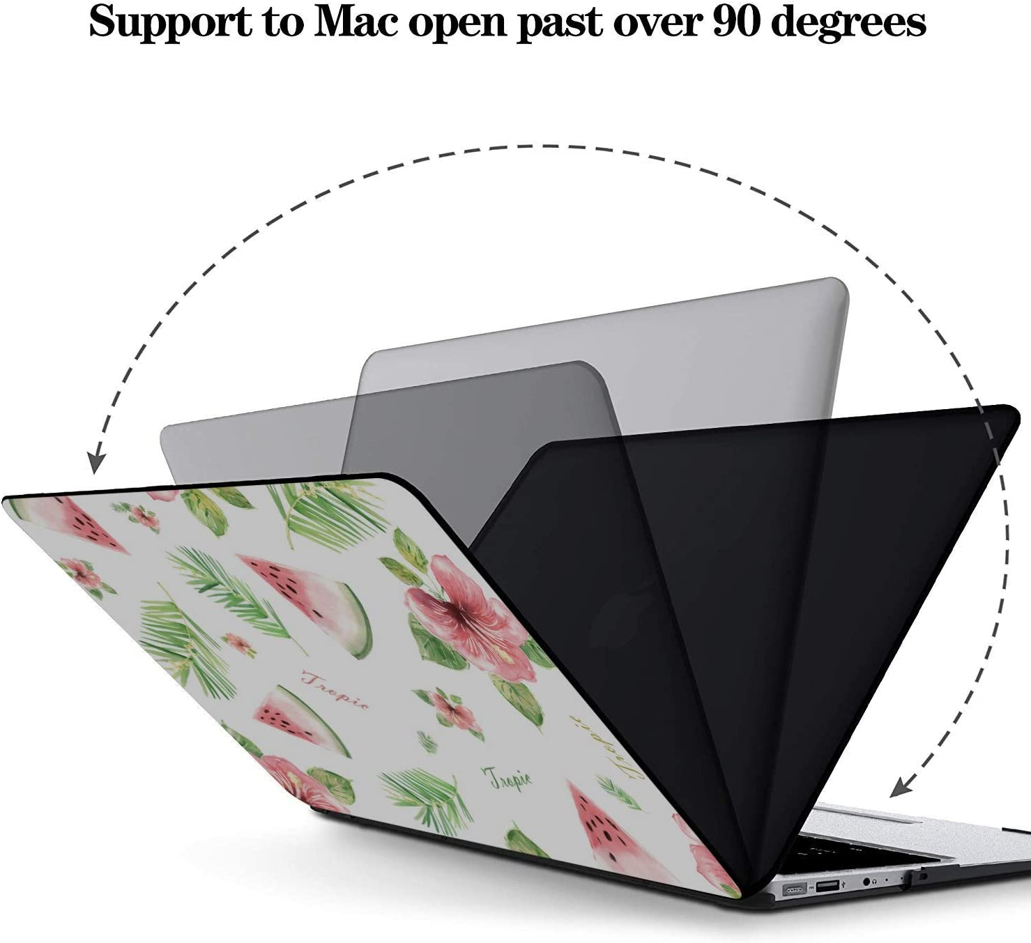15 Inch Laptop Case Summer Fruit Watermelon Green Leaf Plastic Hard Shell Compatible Mac Air 11 Pro 13 15 MacBook Protective Case Protection for MacBook 2016-2019 Version