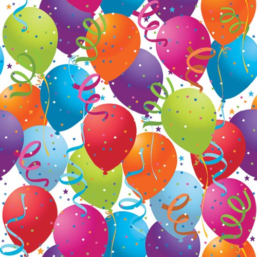 Jillson Roberts 416-Feet X 30-Inch 1/2 Ream Recycled Gift Wrap, Balloon Celebration (B13950B) by Jillson Roberts