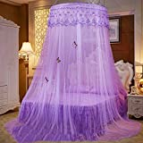 European princess dome mosquito net, Ceiling Hanging Court Double bed canopy -M Queen1
