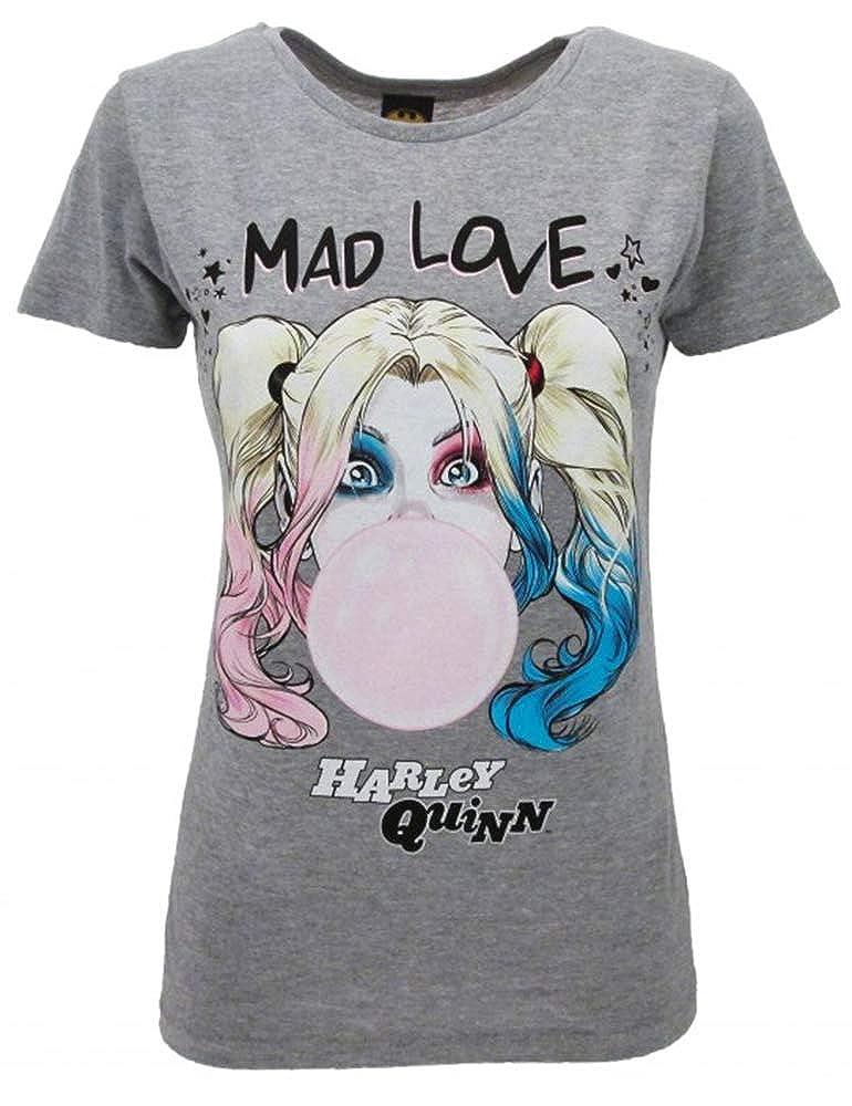 Sabor srl T-Shirt Harley Quinn Originale Birds of Prey e la fantasmagorica rinascita di Harley Quinn Film 2020 Ufficiale Maglia Maglietta Lady Donna Grigia