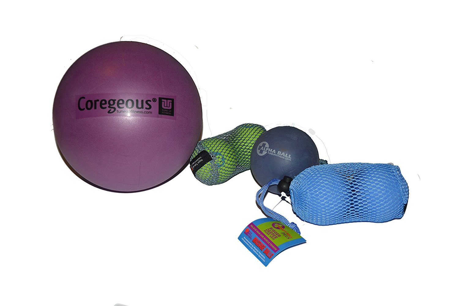 Yoga Tune Up Set of Various Ball Sizes and Colors - original tune up balls, PLUS balls, ALPHA ball and Corgeous Ball With coupon via email for 20% off ...
