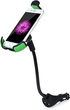 Support Voiture avec Chargeur Allume Cigar Tevina chargeur de voiture 2.1A 2 Port USB pour iPhone 66s, 6 Plus6s Plus, iPhone SE, Galaxy S7S7