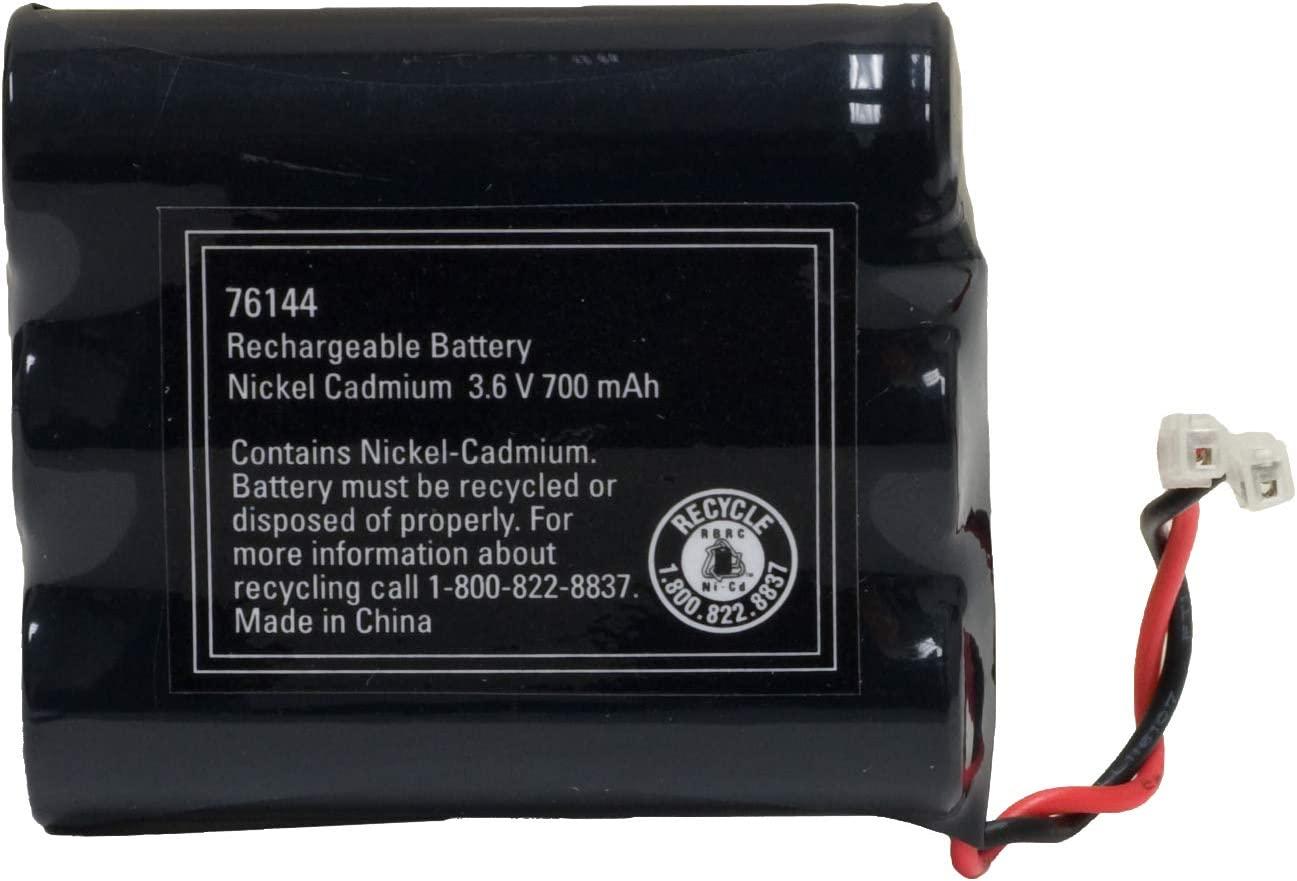 Power Gear Cordless Phone Battery, Rechargeable, Nickel Metal Hydride, 3.6V, 700mAh, Fits Many Cordless Phone Models Including But Not Limited To Panasonic, Sony, Motorola, RCA, and More, Black, 76144