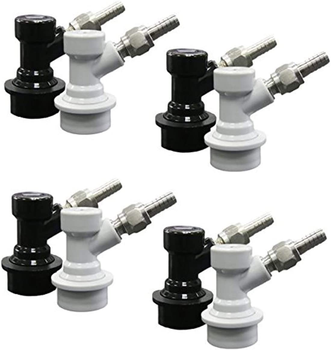 PERA Corny Keg Quick Disconnect Ball Lock Disconnect Set with Swivel Nut for Home Brewing Beer Keg System (PACK OF 8)