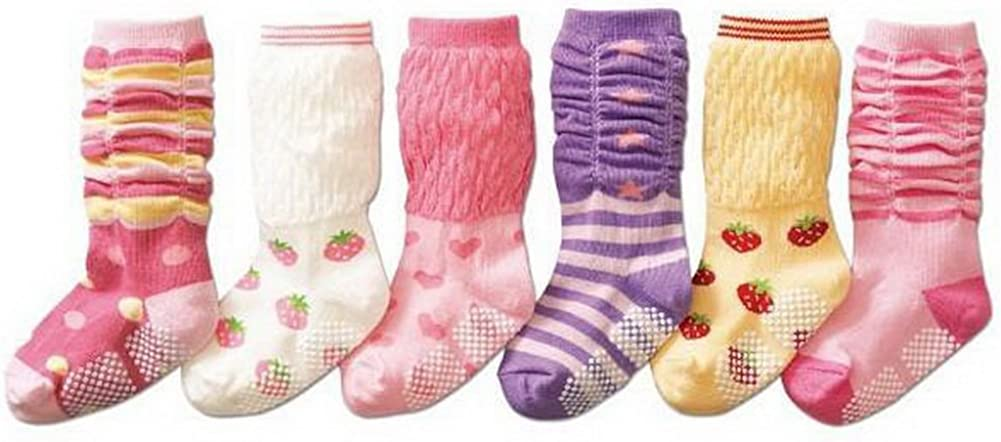 Set of 3 Toddler Girls Tube Socks 2-4X, Random Style