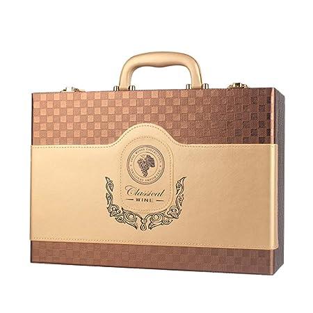 Compra Caja portátil clásica de vino de gran tamaño con ...