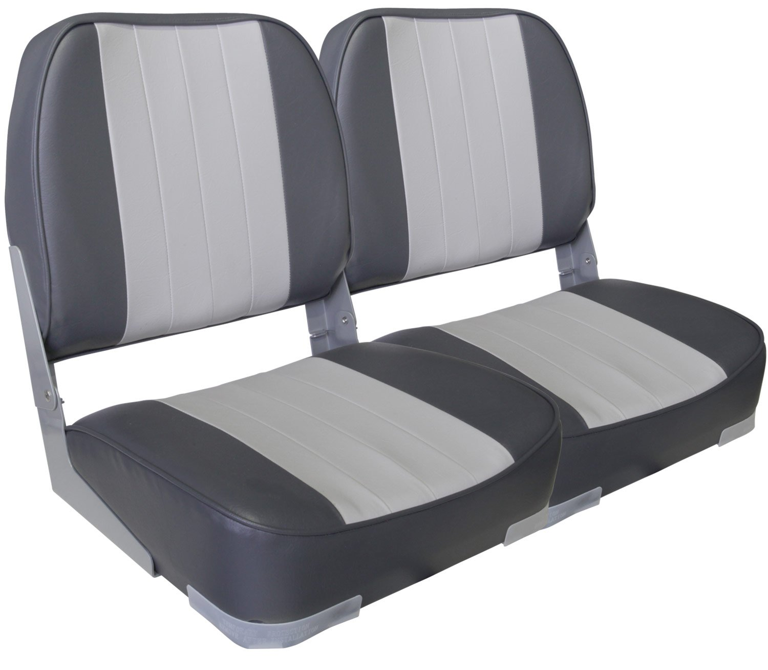 Leader Accessories A Pair of New Low Back Folding Boat Seats(2 Seats) (Gray/Charcoal) by Leader Accessories